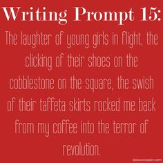 Writing Prompt Fifteen -  Now accepting submissions for ANY writing prompt on…