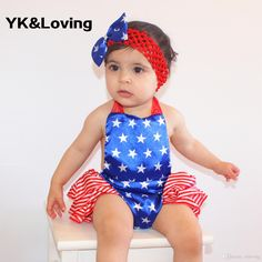 2017 Baby Romper Short Jumpsuts Red Ruffle Toddler Skirts Set 7.4 Us National Day Tutus For Girls Sets New Arrival From Ykloving, $9.93 | Dhgate.Com