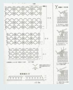 Crochet woman's dress skirt pattern diagram