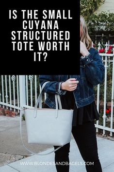 The Cuyana Tote is perfect for building your capsule wardrobe. But is the Cuyana Tote worth it? Cuyana outfit, cuyana style, cuyana tote structured, cuyana tote review
