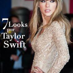 7 Looks por Taylor Swift #TaylorSwift #celebs #looks