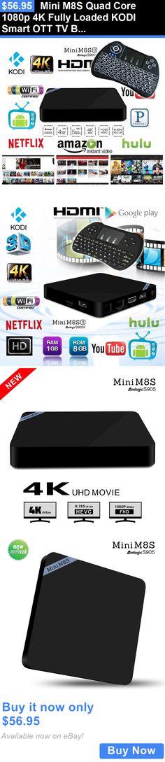 Home Audio: Mini M8s Quad Core 1080P 4K Fully Loaded Kodi Smart Ott Tv Box+Backlit Keyboard BUY IT NOW ONLY: $56.95