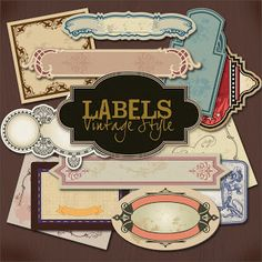 Vintage Style Labels printable