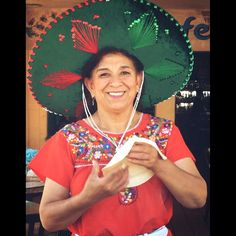 Our beautiful Tortilla Lady, Elida, making fresh homemade flour tortillas. Only at Cafe Coyote, where it's always a fiesta!