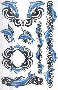 DOLPHIN TRIBAL Snazaroo Temporary Tattoo by Snazaroo. $5.96
