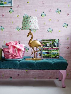 Funky Flamingo Lamp and Cool Pouf - AW16