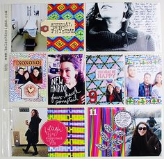 Doodled Project Life cards from Balzer Designs. I love this idea for Art Journaling.