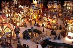 """2,702 Likes, 23 Comments - Est. October 17, 2013 (@christmasglitter) on Instagram: """"A Christmas village is so magical. #christmasvillage #village #lights #magical #creative #diy…"""""""