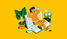 Summer Reading Illustration for La Stampa by Marco Goran
