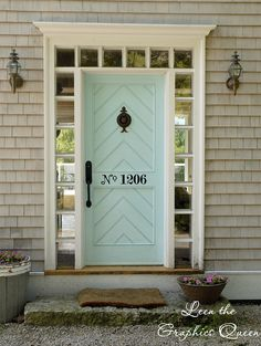 I don't know where the door is from, but I love the color and chevron design.