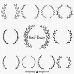 Free Graphics: Hand Drawn Laurel Wreaths - The link is broken, but you can copy and paste. Tattoo Diy, Typographie Logo, Tattoo Style, Wreath Drawing, Free Graphics, Bullet Journal Inspiration, Journal Ideas, Art Plastique, Vector Free