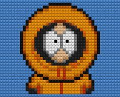 Auto-generated wallpaper. Kenny, from South Park, rendered in Legos. And no... this isn't rally made of Legos.