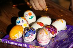Chasing Cheerios: Decorating (Hot) Easter Eggs with Crayons