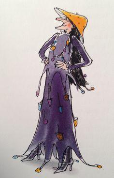 Illustratie van Annemarie van Haeringen uit het boek 'De boze heks' geschreven door Hannah Kraan
