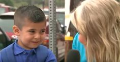 Andrew Macias burst into tears when KTLA reporter Courtney Friel asked him if he was going to miss his mother on his first day of preschool.