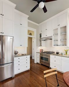 TALL CABINETS Pierce Street Kitchen - Floor-to-ceiling cabinetry by Detail A maximize storage