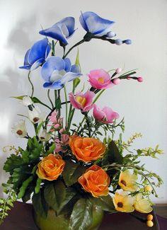 Handmade Nylon Flower Arrangement by LiYunFlora on Etsy, $42.00