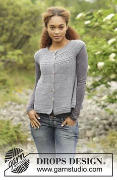 Square Off  vest with cables, worked sideways by DROPS Design. Free knitting pattern