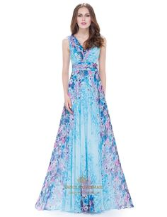 FancyBridesmaid.com Offers High Quality Women'S V Neck Floral Print Ruched…