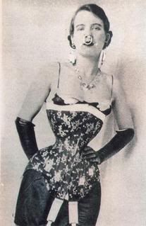 Ethel Granger, worlds smalled waist with corset. It was 13'' omg...