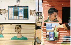 A Design Ethnography of South African Barbershops & Salons – Brain Pickings South Afrika, African Shop, African Culture, Shop Signs, Barber Shop, Illustrators, Salons, Sculptures, Illustration Art