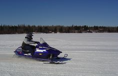 Snowmobiling on Lake of the Woods, MN