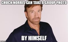 Chuck Norris group photo
