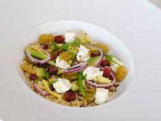 Salade de boulgour et quinoa à l'avocat, aux raisins et à la féta • Hellocoton.fr