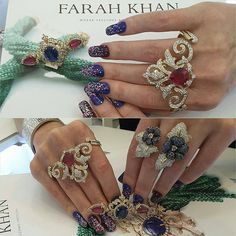 """""""@Regrann from @queenbitchgoddess_mrsorton -  I had 12 #jewelgasms when I tried on these incredible @farahkhanfinejewellery @farahkhanali rings at her…"""""""