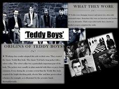 1950'S SUBCULTURE TEDDY BOYS