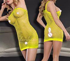 053d447845a Women Sexy Lingerie Costumes Plus Size Body Stocking Erotic Underwear  SleepwearYellow        AMAZON BEST BUY