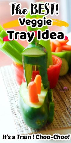 Are you making a veggie tray? Make it more creative by putting this veggie train together from Pint-sized Treasures! It's perfect for a kid's party or for just trying to get your kids to eat their veggies! Your kids will love it!