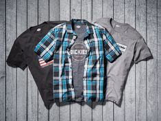 Our new graphic tees and plaids will have you layering like a pro. Mens Gear, Layering, Wetsuit, Motorcycle Jacket, Graphic Tees, Plaid, Swimwear, T Shirt, Jackets