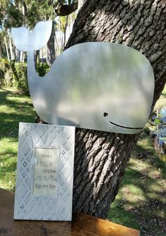 Galvanized Metal Sign - Whale