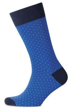 b55c85cc8805 Blue and white micro dash men's socks | Charles Tyrwhitt #socks #menssocks  #menswear