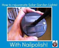 How to rejuvenate your solar garden lights