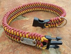 HWH Designer Paracord Dog Collar by ClubSavage on Etsy - Pets - Dogs - Animals - Pet Supplies