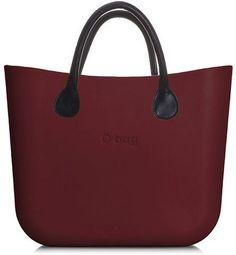 O bag kabelka MINI Bordeaux s hnedými koženkovými rúčkami