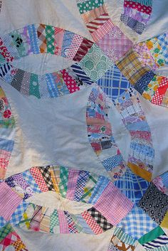 Wedding Ring Quilt detail