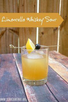 Limoncello Whiskey Sour Cocktail Recipe - - Whiskey sour made with limoncello. Whisky Cocktail, Sour Cocktail, Cocktail Drinks, Cocktail Recipes, Drink Recipes, Limoncello Cocktails, Beste Cocktails, Whiskey Sour, Whiskey Drinks
