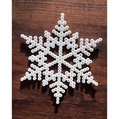 Snowflake hama beads by  malenerosenfeldt