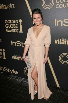 Lea Michele in Valentino at the Miss Golden Globe 2013 Party.