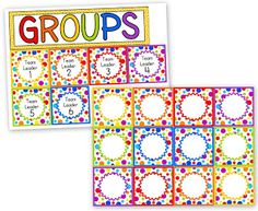 Freebie Polka-Dot Grouping Cards
