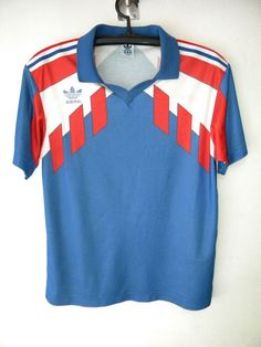 FRANCE VTG ADIDAS FIFA WORLD CUP SHIRT TRIKOT MAGLIA  MAILLOT WHITE BLUE   #adidas #France