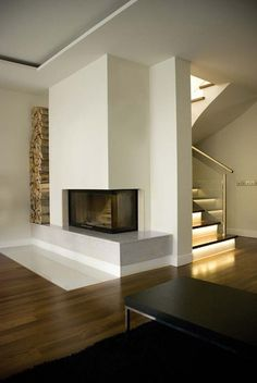 modern fireplace design - Google Search