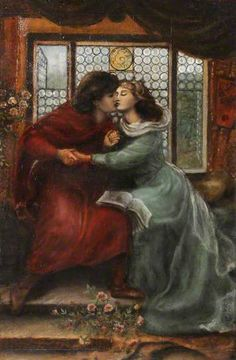 Paolo and Francesca da Rimini (after Dante Gabriel Rossetti) by Henry Treffry Dunn