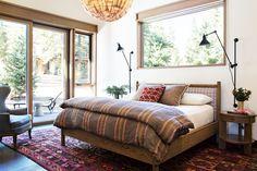 Rustic Chic Bedroom Interior Design And Ideas Cozy Bedroom, Home Decor Bedroom, Bedroom Ideas, Cabana, Contemporary Cabin, Modern Rustic Decor, Rustic Chic, Commercial Interior Design, House Design