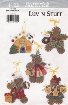 Butterick 4122 No Sew Gingerbread Ornaments