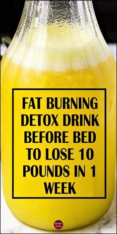 Fat Burning & Detox Drink Before Bed – To Lose 10 Pounds In 1 Week - FOOD! - Today we are going to share with you a magical fat burner bedtime detox drink, to lose 5 kgs in 1 w - Weight Loss Drinks, Weight Loss Smoothies, Best Weight Loss, Drinks To Lose Weight, 2 Week Weight Loss Plan, Detox Water To Lose Weight, Quick Weight Loss Tips, Weight Loss Cleanse, Detox Drink Before Bed