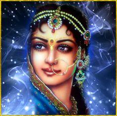 "✨ SHRI RADHA ✨ Artist: Mahendr Dube Shri Krishna said: ""All the inhabitants of…"